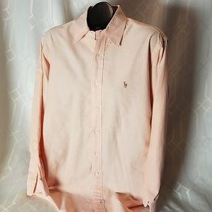 Polo Ralph Lauren salmon cotton shirt 16.5 32/33